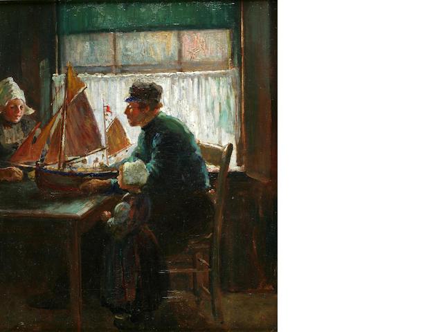 Abbott Fuller Graves (American, 1859-1936) The Model Ship