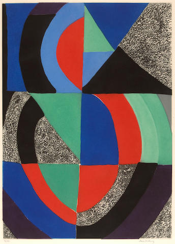 Sonia Delaunay (French, 1885-1979); Untitled (Grande Composition);