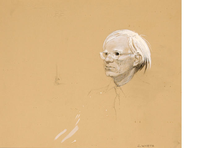 Wyeth Jamie, Portrait of Warhol