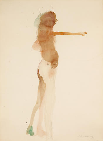 Nathan Oliveira, watercolor * MADE IN CA *