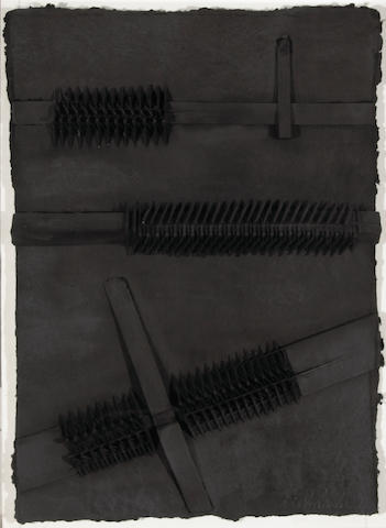 Arnald Pomodoro, Pietra Rubia IV, Cast paper, resin and graphite * FRANK TO INSPECT *