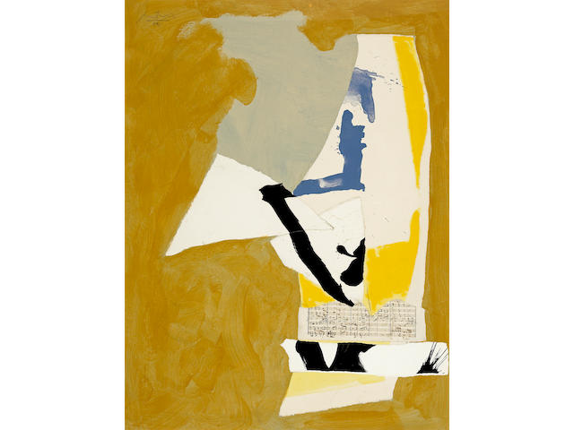 Robert Motherwell (American, 1915-1991) Nip and Tuck, 1984 40 x 30in (101.6 x 76.2cm)