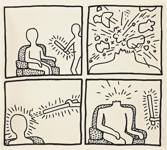 Keith Haring (American, 1958-1990); from The Blueprint Drawings;