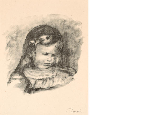 Pierre-Auguste Renoir (French, 1841-1919); Claude Renoir, la Tête Baisée, from Douze lithographies..
