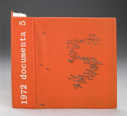 Documenta 5, 1972, Exhibition cataologue with cover art by Ed Ruscha, incomplete