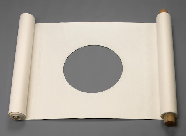 James Lee Byars (American, 1932-1997) Untitled (Performable Scroll), c. 1967 1195 x 35 7/8in (3035 x 91cm) diameter of hole 17 7/8in (45.5cm)
