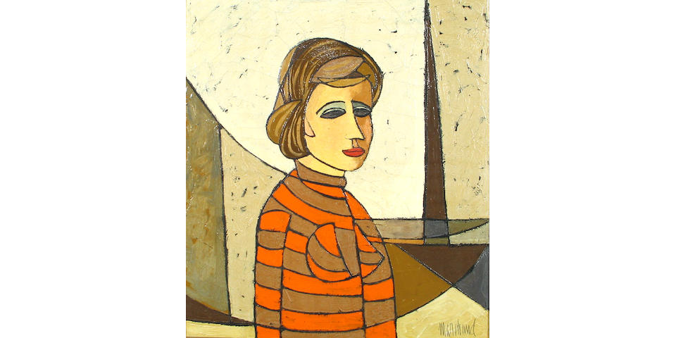 Philippe Marchand (French, 20th century) Untitled (Woman in Orange) 24 x 20in