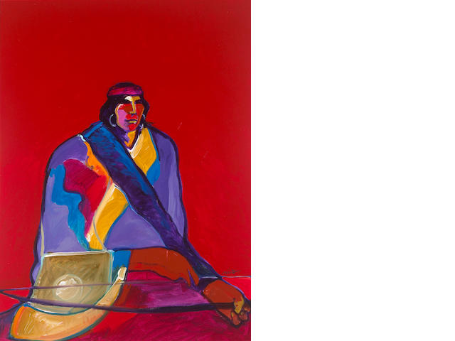 John Nieto (American, born 1936) Navaho Warrior 40 x 30in (101.6 x 76.2cm)