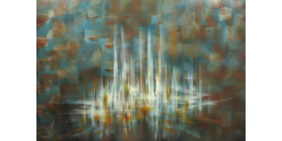 Leonardo Nierman (Mexican, born 1932) Untitled 48 x 72in