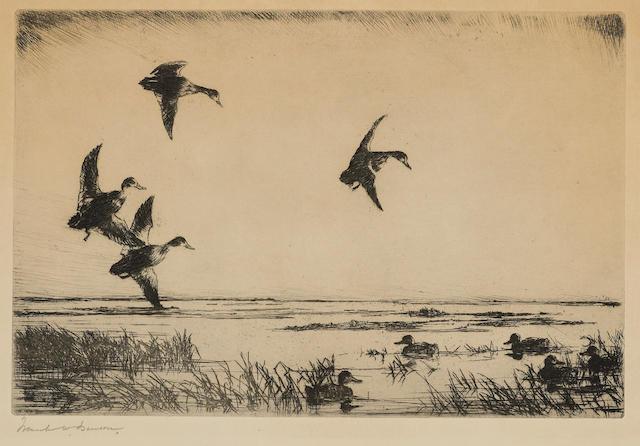 Frank W. Benson (American, 1862-1951); Swinging In;