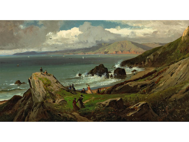 William Keith (1838-1911) Land's End, 1873 15 x 33in