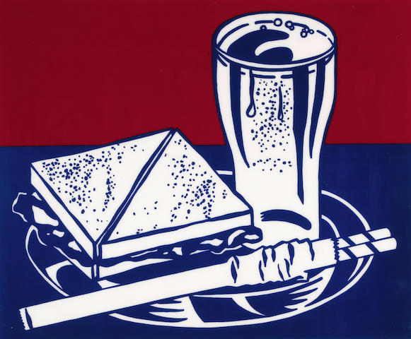 Roy Lichtenstein (American, 1923-1997); Sandwich and Soda, from Ten Works by Ten Painters;