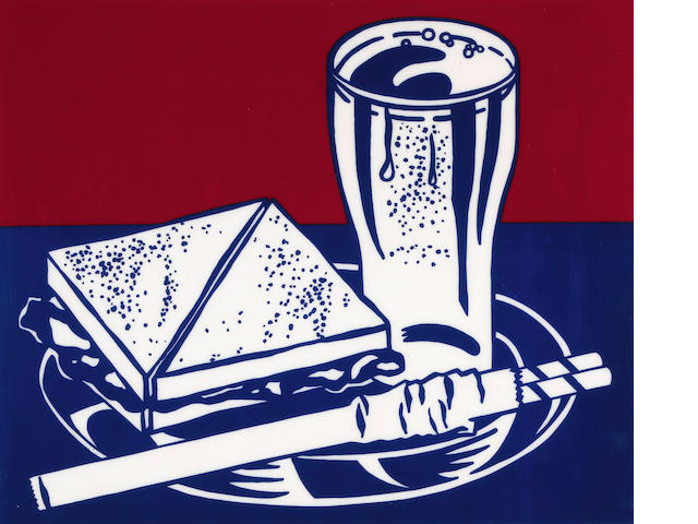 Roy Lichtenstein (American, 1923-1997); Sandwich and Soda, from Ten Works by Ten Painters;