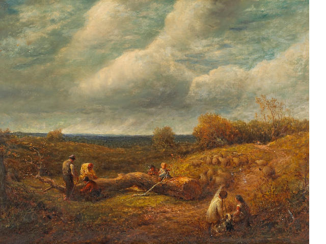 James Thomas Linnell (British, 1820-1905) An extensive landscape 28 x 36in (71 x 91.5cm)