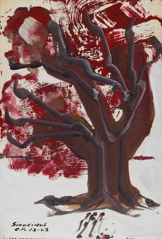 David Alfaro Siqueiros (Mexican, 1896-1974) Arbol de la Caridad, 1963 18 x 12in (45.75 x 30.5cm)