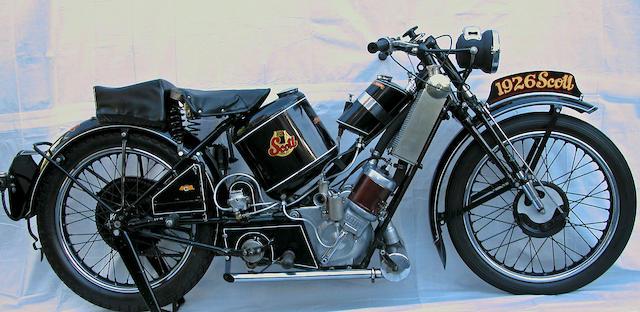 The ex-Steve McQueen, Von Dutch,1929 Scott 596cc Super Squirrel Engine no. Y2373A