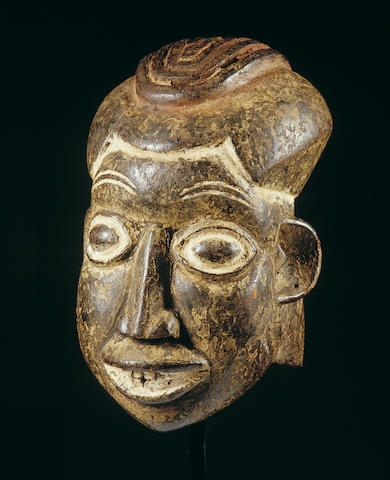 A Bamileke helmet mask