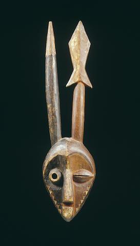 A Kasai Pende bifurcated facemask