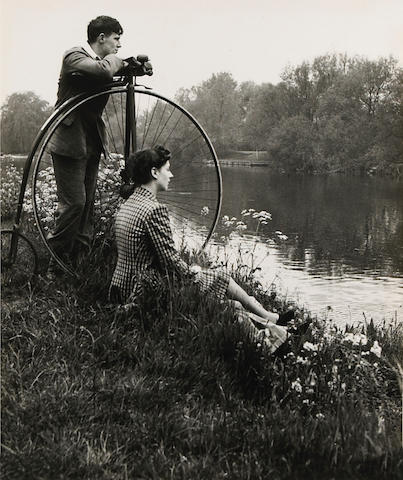Bill Brandt (British, 1904-1983); Penny-farthing for their thoughts, from A Day on the River;