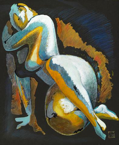 Alexander Archipenko (Ukrainian, 1887-1964) Nude, 1938 16 3/4 x 13 1/2in (42.5 x 34.3cm)