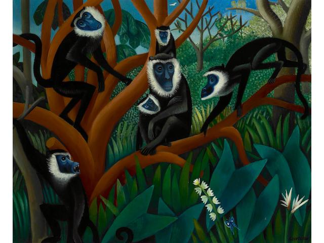 Miguel Covarrubias (Mexican, 1904-1957) Dentro de la selva tropical 22 x 27in (56 x 68.5cm)