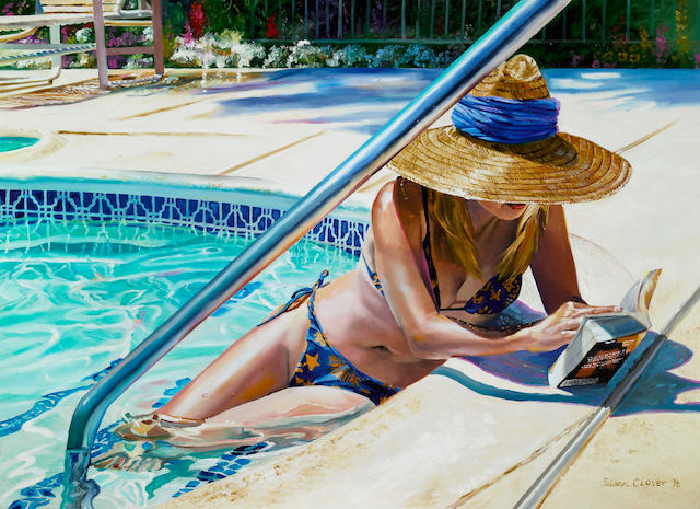 "Susan Clover, ""Cool Reading"", oil on canvas"