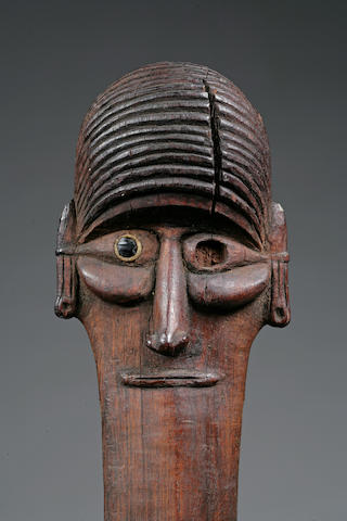 A fine Easter Island janus staff