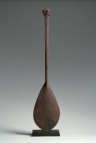 An Austral Islands ceremonial paddle