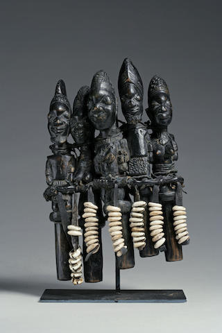 A Yoruba group of Eshu figures