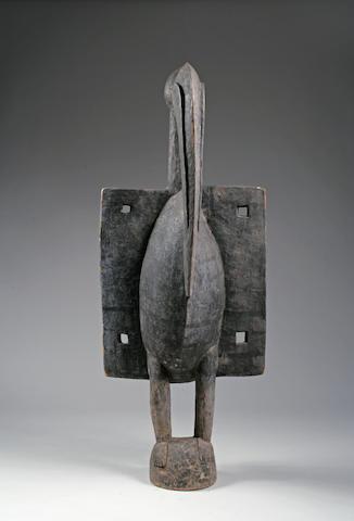 A Senufo guardian bird figure