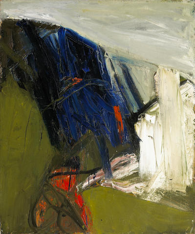 Joan Brown (American, 1938-1991) Untitled, 1957 48 x 58in (122 x 147.4cm)