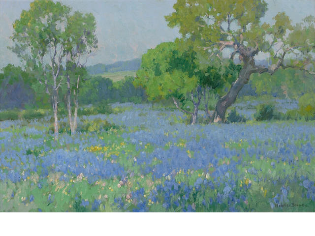 Maurice Braun (American, 1877-1941) A Field of Bluebonnets 16 x 24in