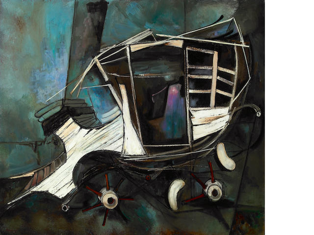 Edgar Louis Ewing (American, 1913-2006) Old Coach, 1949 32 x 36 1/2in (81 x 93cm)