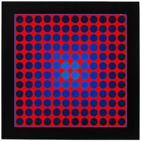 Victor Vasarely (Hungarian, 1906-1997) Malna, 1964 16 7/8 x 16 7/8in (43 x 43cm)