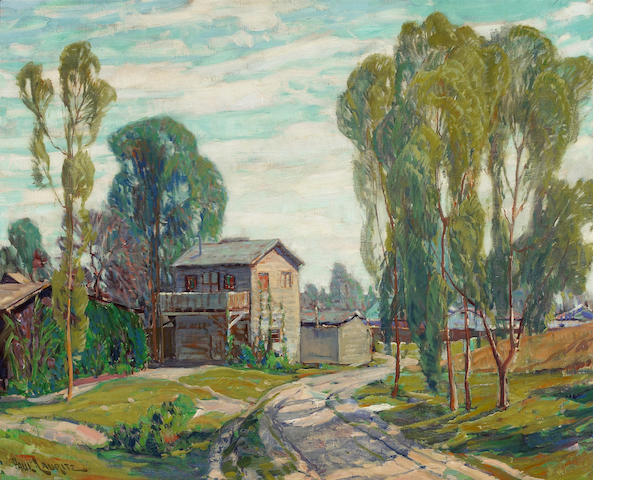 Paul Lauritz Houses by a Road