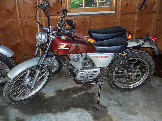 c.1976 Honda TL125 Motorcycle Frame no. TL125 1002026