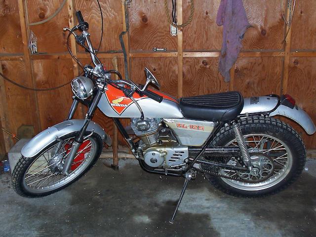 c.1976 Honda TL125 Trials Motorcycle Frame no. 125S 1002709