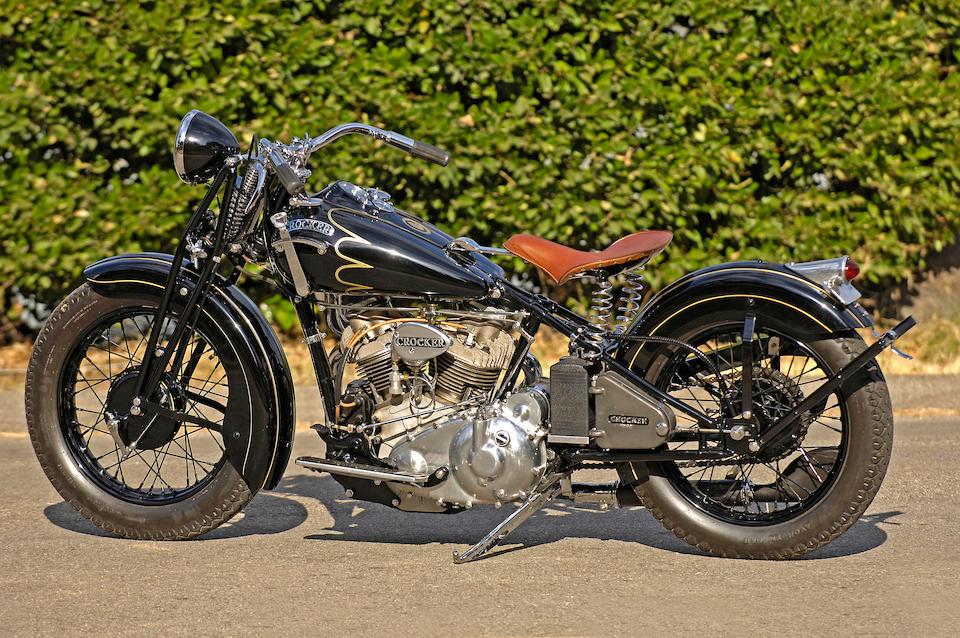 1939 Crocker Special V-Twin Motorcycle Engine no. 39-61-107
