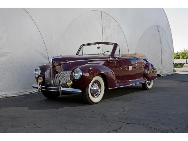 1940 Lincoln Zephyr Convertible Coupe H104842