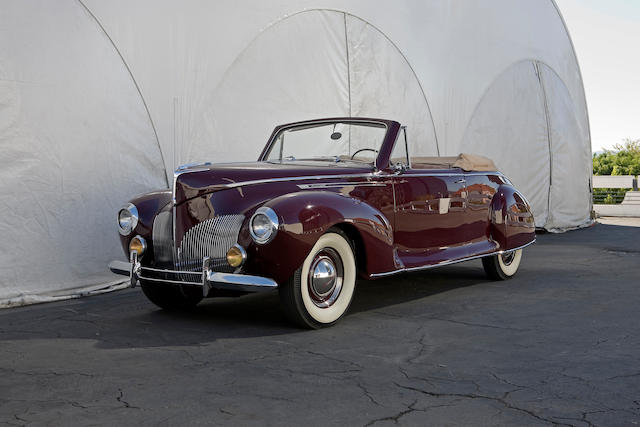 1940 Lincoln Zephyr Convertible Coupe  Chassis no. H104842