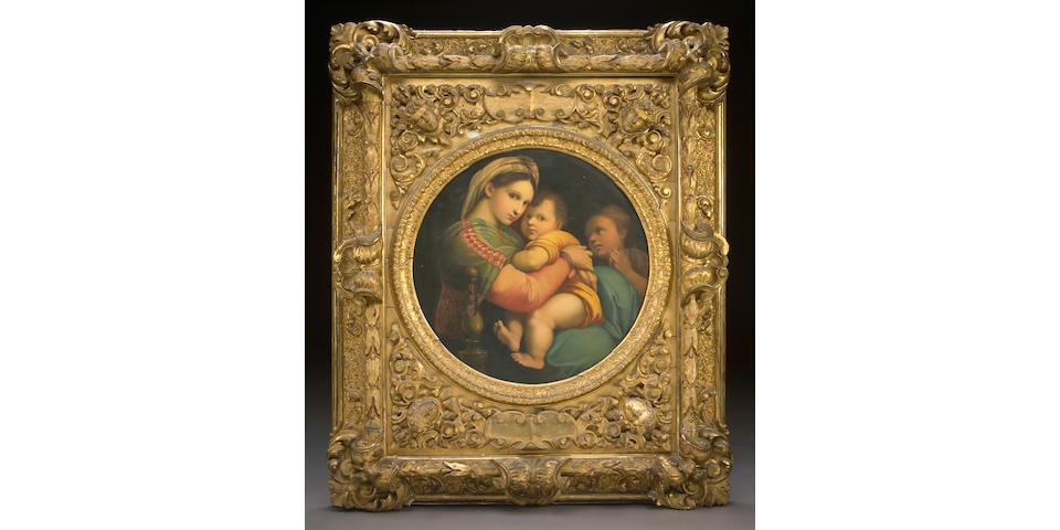 After Raffaello Sanzio, called Raphael Madonna della Sedia 29 1/4 x 29in