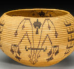 A Washo polychrome basket, Tootsie Dick