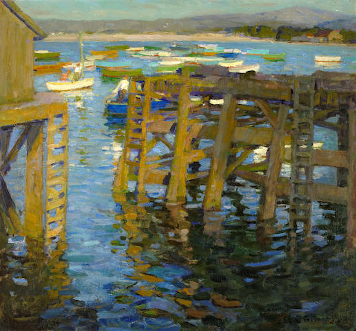 E. Charlton Fortune (1885-1969) Late Afternoon, Monterey, 1914 26 x 28in