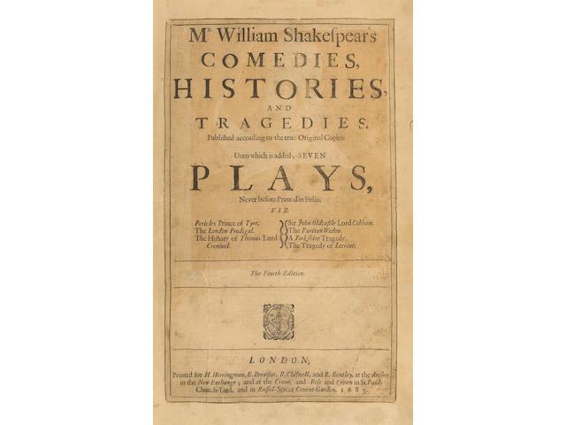 SHAKESPEARE, WILLIAM.  1564-1616.