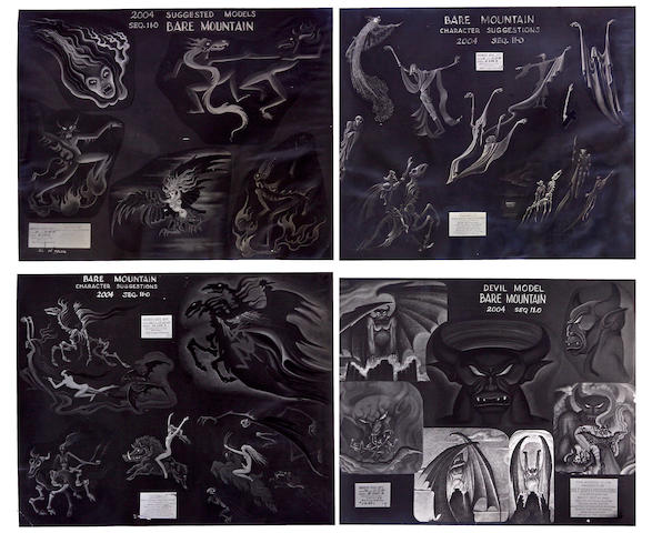 "Four Walt Disney photostats from ""Fantasia"""
