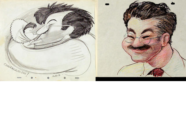 A collection of twenty-four caricature drawings of Tytla