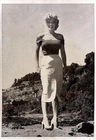 A Marilyn Monroe likely never-before-seen black and white snapshot, 1952