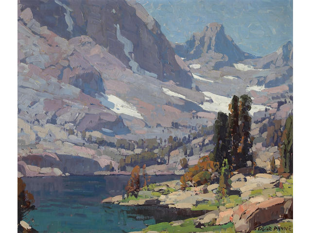 Edgar Payne (1883-1947) Sierra Lake 25 x 30in