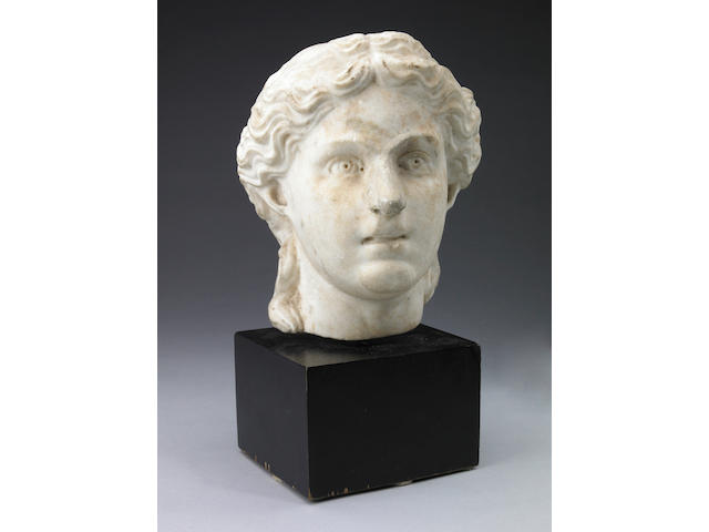 A Roman carved marble portrait head