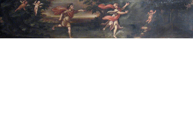 Italian School (18th/19th century) The chase 13 1/2 x 64 1/8in
